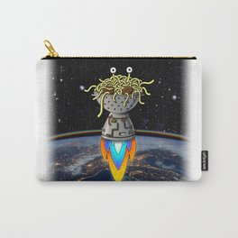 Flying Spaghetti Monster Earth Space Stars Rocket Atmosphere Carry-All Pouch