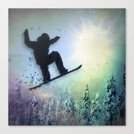 The Snowboarder: Air Canvas Print