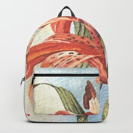 Orange Tiger Lily Watercolor Painting Backpack
