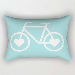 Ride Your Heart Out -  Bike Bicycle Love Rectangular Pillow