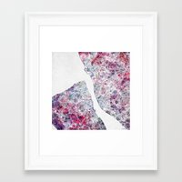 liverpool Framed Art Prints featuring Liverpool map by MapMapMaps.Watercolors