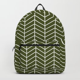 olive green chevrons Backpack