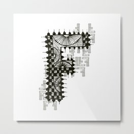 Color Me F Metal Print