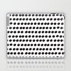 Black Dots White Background Asymmetrical Pattern Laptop & iPad Skin