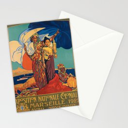 Affiche exposition nationale coloniale   marseille. 1922  Stationery Cards