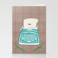 typewriter Stationery Cards featuring typewriter by WreckThisGirl