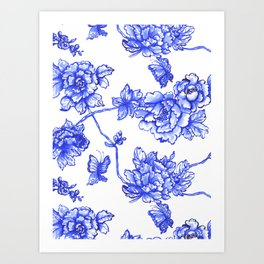 Chinoiserie Floral Art Print