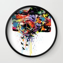 Paint DSLR Wall Clock