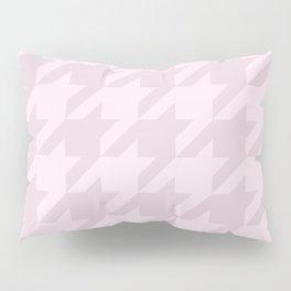 Pink Houndstooth Pillow Sham
