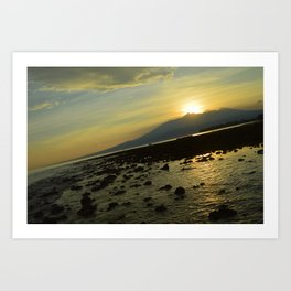 Morning Rise Low Tide Surprise Art Print