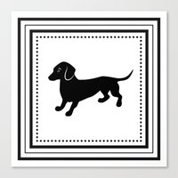 dachshund Canvas Prints featuring Dachshund by Antique Images