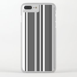 Grey Scale Lines Clear iPhone Case