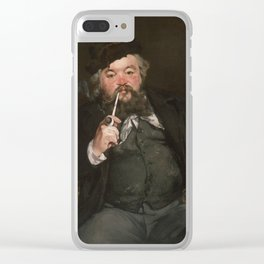 Édouard Manet - Happy Beer Drinker Clear iPhone Case
