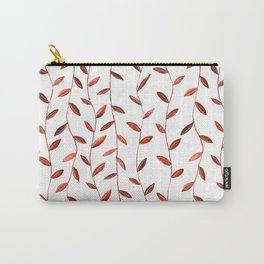 Red Watercolor Vines Carry-All Pouch