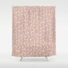 Xere Peach Shower Curtain