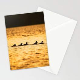 Birds Swimming At Sunset Reflection On The Lake #decor #society6 Stationery Cards