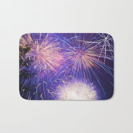 July Fourth Fireworks Bath Mat