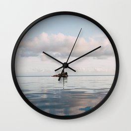"""Saying """"Peace"""" to All My Problems Wall Clock"""