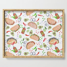 "Tacos are ""Hot Stuff"" and we love them! Serving Tray"
