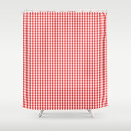 Small White and Donated Kidney Pink Halloween Gingham Check Shower Curtain