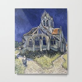 Church At Auvers Sur Oise by Van Gogh Metal Print