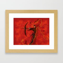 The Girl Who Was On Fire Framed Art Print