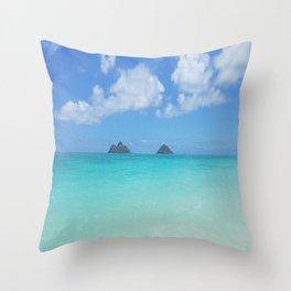 Lanikai Beach Throw Pillow
