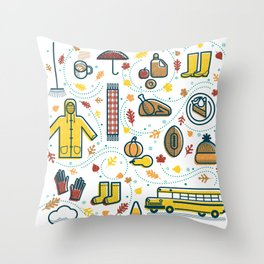 Favorite Fall Things Throw Pillow
