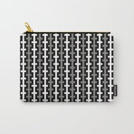 Geometric Pattern 113 (gray lines stripes) Carry-All Pouch