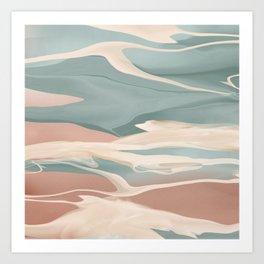 Calming Waves Modern Abstract  Art Print