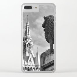 The Brunswick Lion and Town Hall Clear iPhone Case