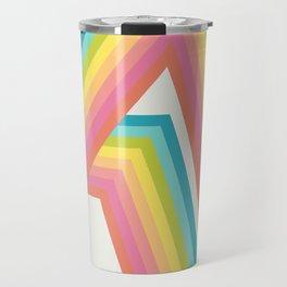 Retro Rainbow Rays Travel Mug