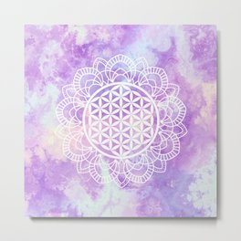 Flower Of Life (Soft Lavenders) Metal Print