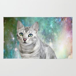 Purrsia Kitty Cat in the Emerald Nebula of Innocence Rug
