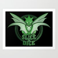 Slice and Dice  Art Print