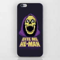 skeletor iPhone & iPod Skins featuring Skeletor - Bite me by Magnus Snickars