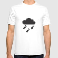 cloudbomb SMALL White Mens Fitted Tee