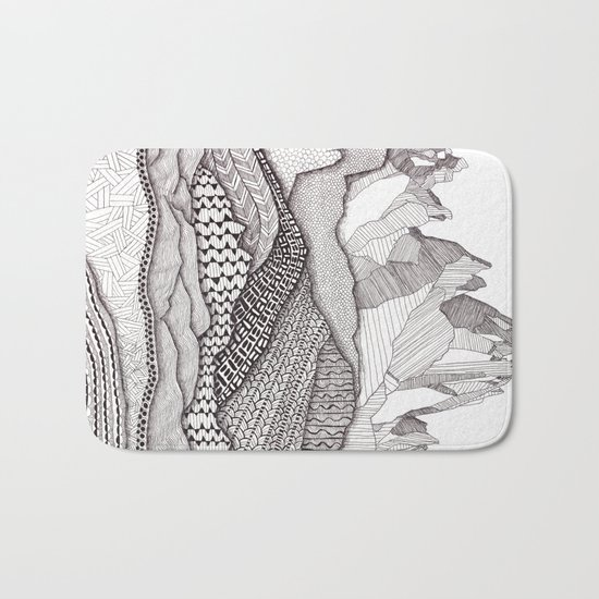 Patterns on Patagonia Bath Mat