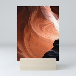 Antelope Canyon Reddish And Blue Tones Mini Art Print