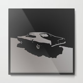 Mercury Marauder, Gray on Black Metal Print