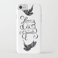 larry stylinson iPhone & iPod Cases featuring Larry Stylinson - Love is Equal by Aki-anyway