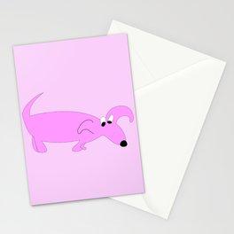 PURPLE SNIFFER DOG Stationery Cards
