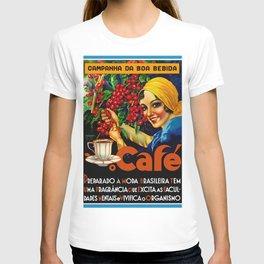 Vintage Brazil Coffee Ad T-shirt