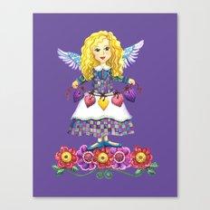 Angel Love (Purple) Canvas Print