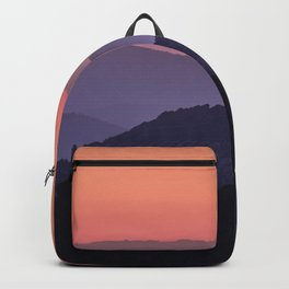 Purple sunset at the mountains. Last night Backpack