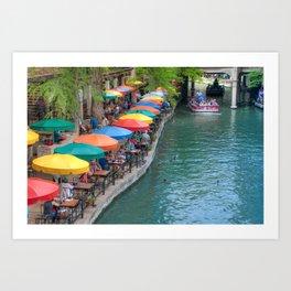 San Antonio Riverwalk - A Place for Love Art Print