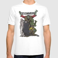 The Demonsterables MEDIUM White Mens Fitted Tee