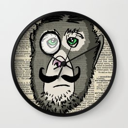 Detective Monkey Head Wall Clock
