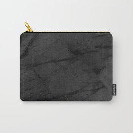 Dark Grey Marble Carry-All Pouch