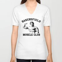 muscle V-neck T-shirts featuring Muscle club by big tony
